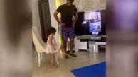 جدیدترین بازیکن تمرینات مجازی نساجی پس از بهتاش فریبا، این دختر کوچولوی زیبای دو ساله است!
