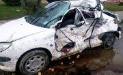 واژگونی خودروی سواری یک کشته و ۲ مجروح درپی داشت