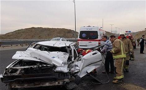 تصادف خونین در جاده پالنگان به کامیاران ۴ کشته و ۲ زخمی برجای گذاشت+علت سانحه