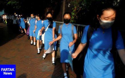 """چین، هنگکنگ را بخش """"جداییناپذیر"""" دانست/زنجیره انسانی محصلان"""