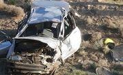 یک فوتی و ۴ مصدوم حاصل سقوط خودرو به دره در جاده چالوس