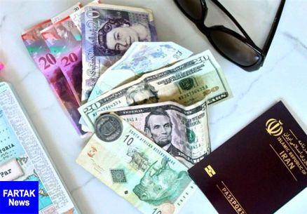 قیمت ارز مسافرتی امروز ۹۷/۱۲/۲۵