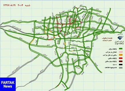 تهران بدون ترافیک در هنگام بازی پرسپولیس