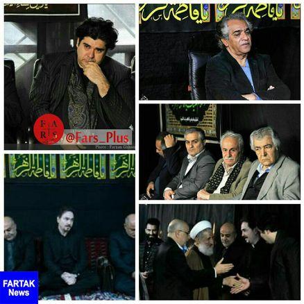 عکس/ حضور جمعی از هنرمندان به نام در مراسم عزاداری حضرت زهرا(س)