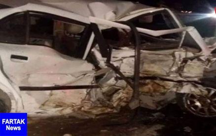 برخورد مرگبار سه دستگاه خودرو در جاده ایوان - ایلام