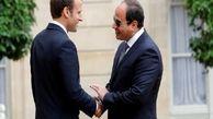 مکرون درچارچوب دیداری سه روزه وارد مصر شد