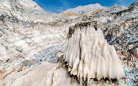 ریزش کوه و ایجاد گرد و غبار پس از زلزله بوشهر + فیلم