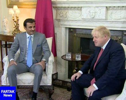 رهبران انگلیس و قطر بر کاهش تنشها در خاورمیانه تاکید کردند