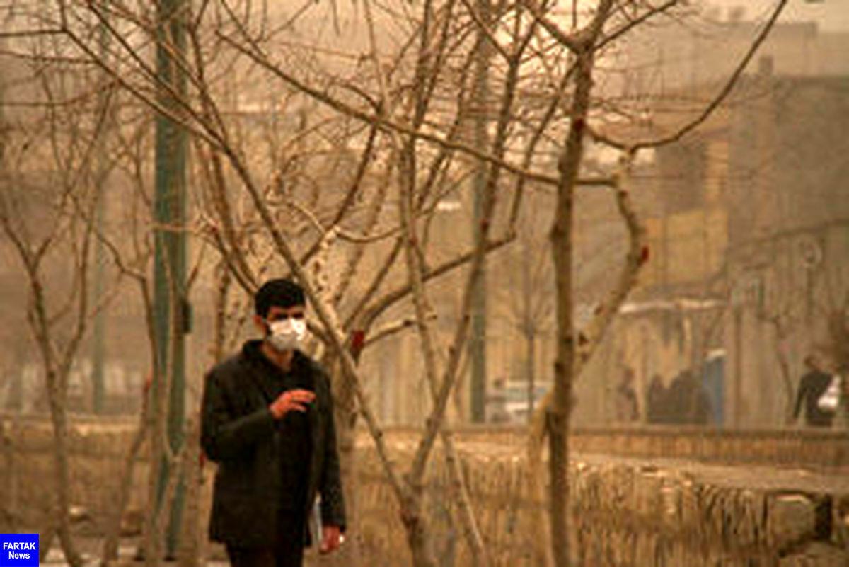 """هوای تهران """"ناسالم"""" برای گروههای حساس"""