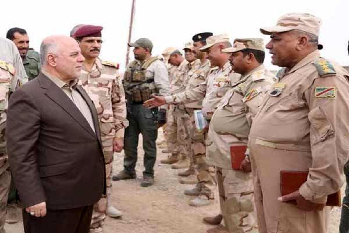 العبادی: در مراحل پایانی آزادسازی اراضی و تامین مرزها هستیم