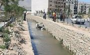 سقوط خودرو به رودخانه شهرک فرهنگیان همدان