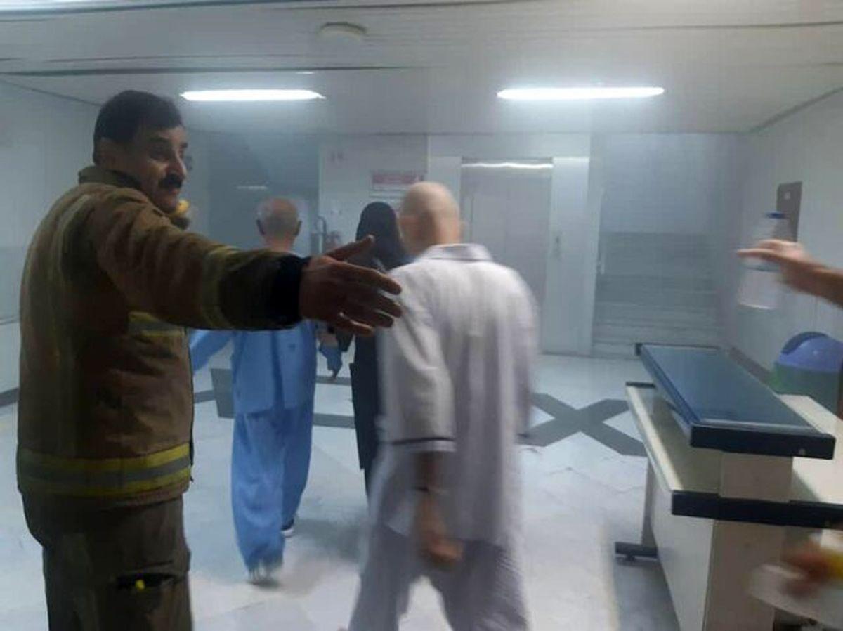 وقوع آتش سوزی در یکی از بیمارستان های تهران