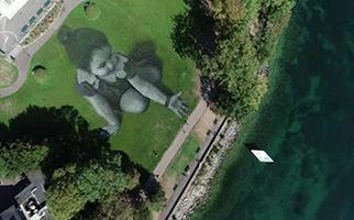 اقدام ابتکاری نقاش فرانسوی در حمایت از مهاجران + فیلم
