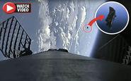 عبور ماهواره جاسوسی فرازمینیها از کنار راکت فالکن ۹! +فیلم
