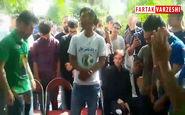 حاشیه مراسم یادبود ناصر حجازی در بهشت زهرا+فیلم