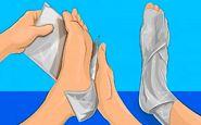 پاهای خود را در فویل آلومینیومی بپیچید و معجزه را ببینید