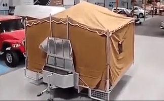 عجیبترین چادر مسافرتی که تا بحال دیدهاید +فیلم