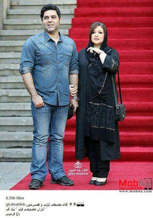 مصطفی کیایی به همراه همسرش در اکران تیک آف (عکس)