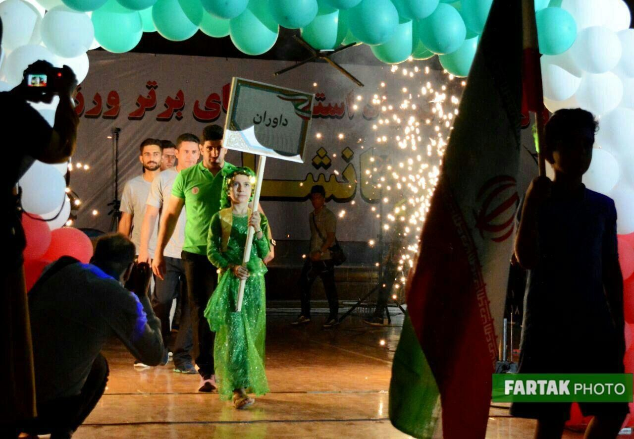 گزارش تصویری آیین افتتاحیه دومین المپیاد استعدادهای برتر هندبال  کشور در کرمانشاه