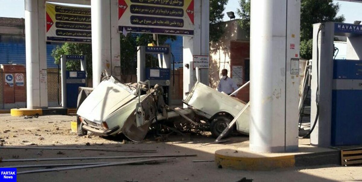سه مصدوم در انفجار جایگاه سیانجی آبادان