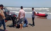 نجات جوان ۲۵ ساله از غرق شدگی در دریای کاسپین
