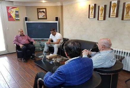 رییس فدراسیون فوتبال باحشمت مهاجرانی، عابدزاده و استیلی دیدار کرد