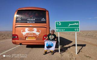 سعید عظیمی تور لیدر آژانس لندتراول در سفر به کویر مصر