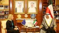 دیدار موگرینی با وزیر خارجه کویت