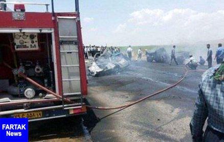 زنده زنده سوختن 2 مرد در کرمانشاه +عکس صحنه وحشتناک