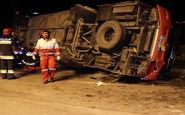 واژگونی اتوبوس تهران_شیراز در اصفهان با ۱۰ کشته
