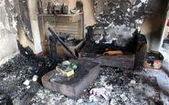 ۲ مرد خانه ای را در رشت به آتش کشیدند+ عکس