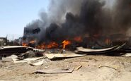 آتش سوزی گسترده در شیراز