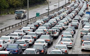 ترافیک نیمهسنگین در آزادراه تهران_کرج/ اعلام محورهای مسدود