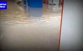 زلزلهزدگان کرمانشاهی در محاصره آب + فیلم