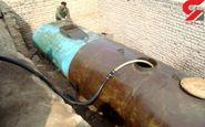کشف تانکر سوخت قاچاق از زیر زمین یک خانه در همدان
