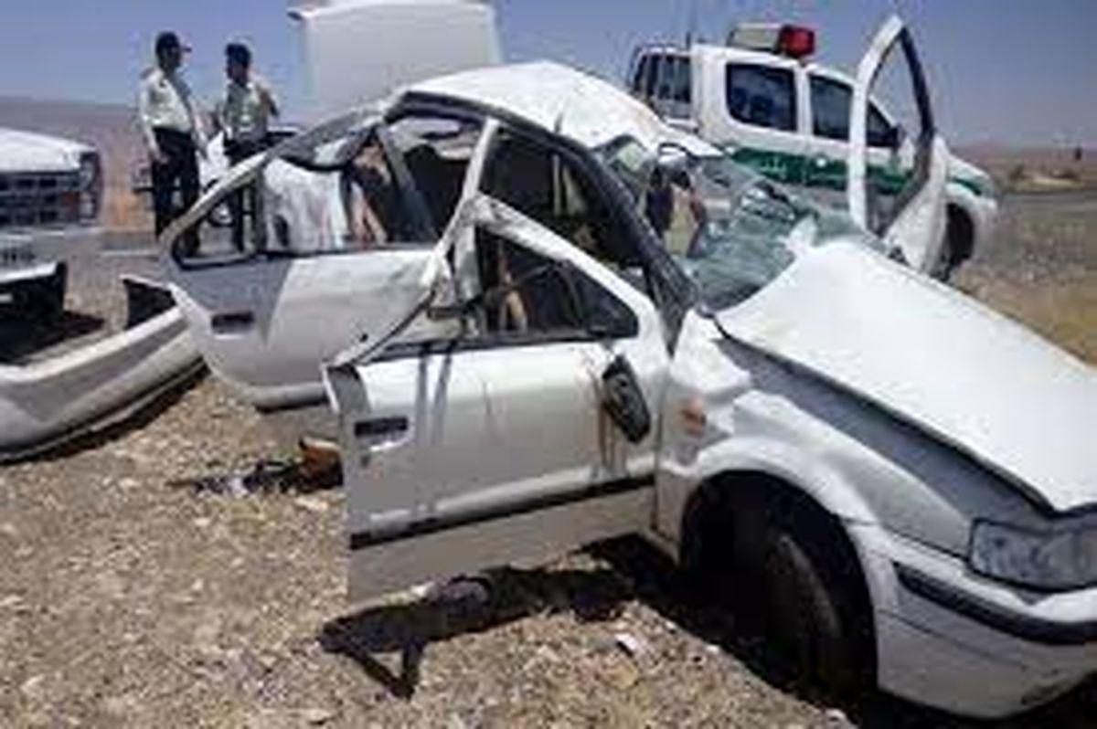 تصادف هولناک سمند با اتوبوس در جاده مراغه / 9 نفر داخل سمند له شدند + عکس