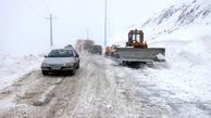 بارش برف در محورهای مواصلاتی 8 استان
