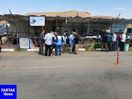 بازدید مستمر از موکب های شهرستان قصرشیرین توسط کارشناسان محیط زیست