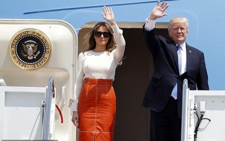 هیاهوی سفر ترامپ و همسرش+ تصاویر