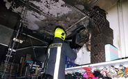 مهار آتش سوزی فروشگاه لوازم خرازی در بلوار پیروزی شهر مشهد