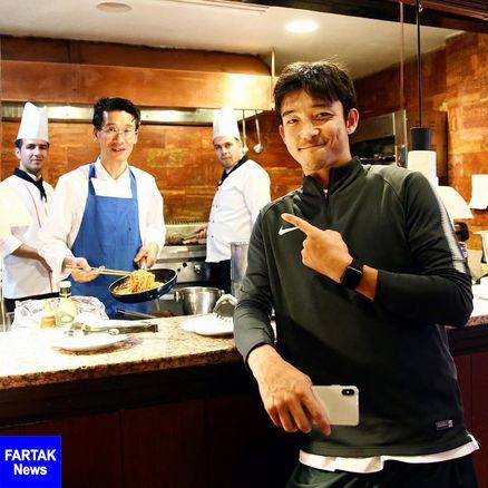 تیم کاشیما با آشپز ژاپنی به تهران آمد