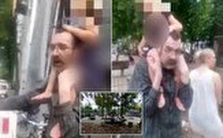 لحظه ربودن دختر خردسال در پارک بازی!