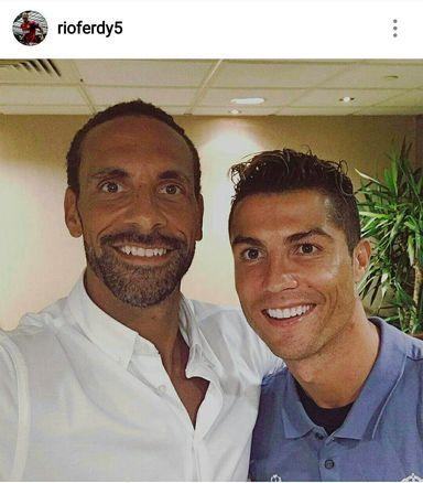 سلفی رونالدو و کاپیتان سابق یونایتد قبل از فینال(عکس)
