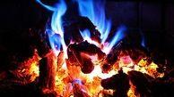 گرم شدن دانشآموزان با آتش هیزم!! + فیلم