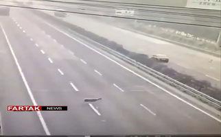 تصادف وحشتناک؛ کمی احتیاط بد نیست! + فیلم