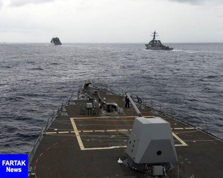 حضور ناوشکنهای آمریکایی در دریای مورد مناقشه چین جنوبی