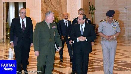 دیدار سیسی با رئیس فرماندهی مرکزی ارتش آمریکا
