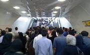 سقوط از پله برقی متروی کرج