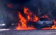 پنج سرنشین خودرو سواری در فارس در آتش سوختند