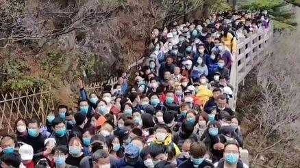 هجوم گردشگران به پارک ملی چین